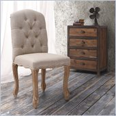 Zuo Noe Valley Chair in Beige (Set of 2)