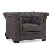 Zuo Nob Hill Armchair in Charcoal Gray