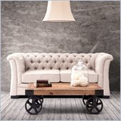 Zuo Nob Hill Loveseat in Beige