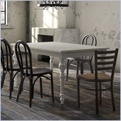 Zuo Soma Dining Table in White