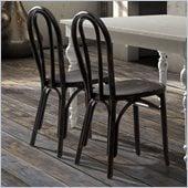 Zuo Nob Hill Chair in Black (Set of 2)