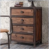 Zuo Fort Mason 4 Drawer Cabinet in Distressed Natural