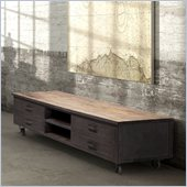 Zuo Fort Mason Entertainment Stand in Distressed Natural
