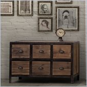 Zuo Fort Mason 6 Drawer Sideboard Distressed Natural