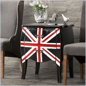 Zuo Union Jack Small Cabinet in Distressed Black