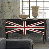 Zuo Union Jack Large Cabinet in Distressed Black
