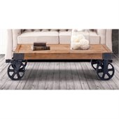 Zuo Era Barbary Coast Cart Coffee Table in Distressed Natural