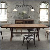 Zuo Laurel Heights Dining Table in Distressed Natural