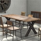 Zuo Haight Ashbury Dining Table in Distressed Natural