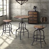 Zuo Twin Peaks Bar Table in Distressed Natural