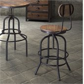 Zuo Twin Peaks Bar Chair in Distressed Natural