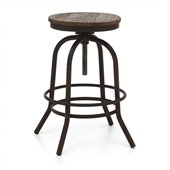 Zuo Twin Peaks Counter Stool in Distressed Natural