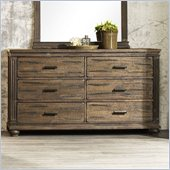 Zuo The City 6 Drawer Dresser Dark Brown