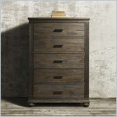 Zuo The City 5 Drawer Chest Dark Brown