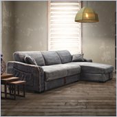 Zuo Brand Sectional Blue Denim