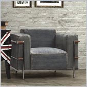 Zuo Lasso Armchair in Blue Denim