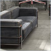 Zuo Lasso Loveseat in Blue Denim