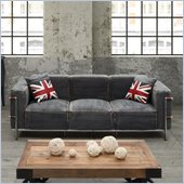 Zuo Lasso Sofa in Blue Denim