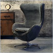 Zuo Winchester Armchair in Blue Denim