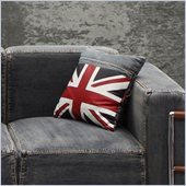 Zuo Cowboy Cushion Blue Denim with UK Flag