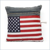 Zuo Cowboy Cushion Blue Denim with USA Flag