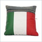 Zuo Cowboy Cushion Blue Denim with Italy Flag
