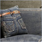 Zuo Jean Cushion Blue Denim with Back Jean