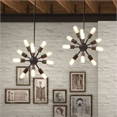 Zuo Sapphire Ceiling Lamp in Small Rust 
