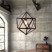 Zuo Amethyst Ceiling Lamp in Small Rust