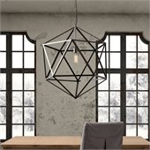 Zuo Amethyst Ceiling Lamp in Large Rust