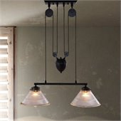 Zuo Garnet Ceiling Lamp in Antique Black Gold Finish