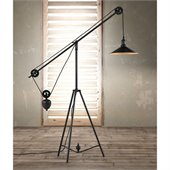 Zuo Jasper Floor Lamp in Antique Black Gold