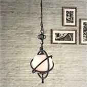 Zuo Topaz Lamp in Antique Black Gold