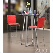 Zuo Criss Cross Lemon Drop 3 Piece Pub Set