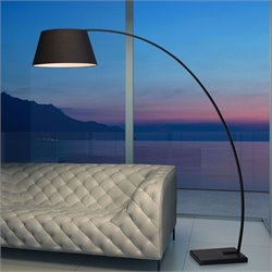 Zuo Vortex Floor Lamp in Black