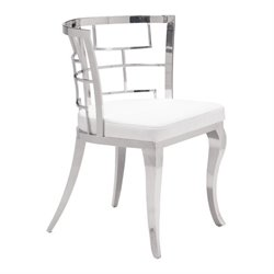 Zuo Quince Faux Leather Dining Chair in White