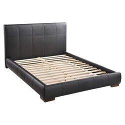 Zuo Amelie Faux Leather Upholstered Queen Platform Bed in Black