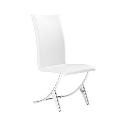 Zuo Delfin Side Chair in White