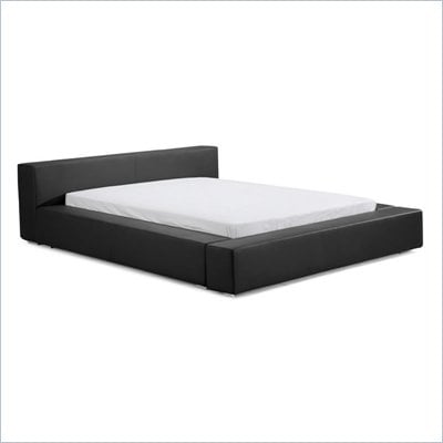 ZUO Alpha Modern Leatherette Platform Bed in Black
