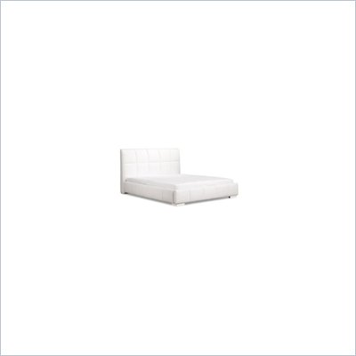 Zuo Amelie Upholstered Leatherette Platform Bed in White