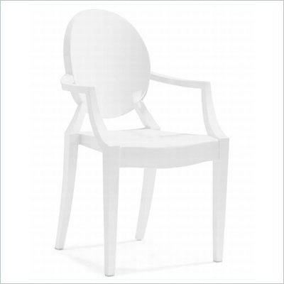 Zuo Anime Acrylic Chair in White
