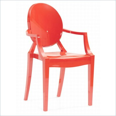Zuo Anime Acrylic Chair in Red