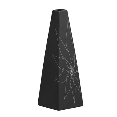 Zuo Beatrice Triangular Vase Large in Black
