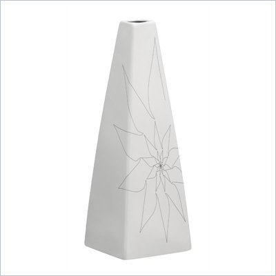 Zuo Beatrice Triangular Vase Large in White