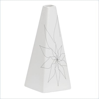 Zuo Beatrice Triangular Vase Small in White