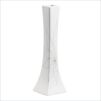 Zuo Bethany Long Vase Medium in White