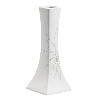 Zuo Bethany Long Vase Small in White