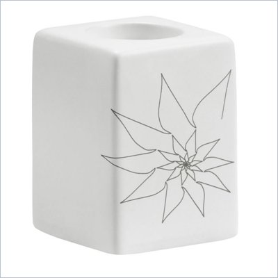 Zuo Blair Single Candle Holder in White