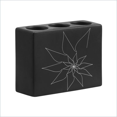 Zuo Blair Triple Candle Holder in Black