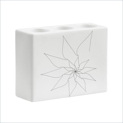 Zuo Blair Triple Candle Holder in White